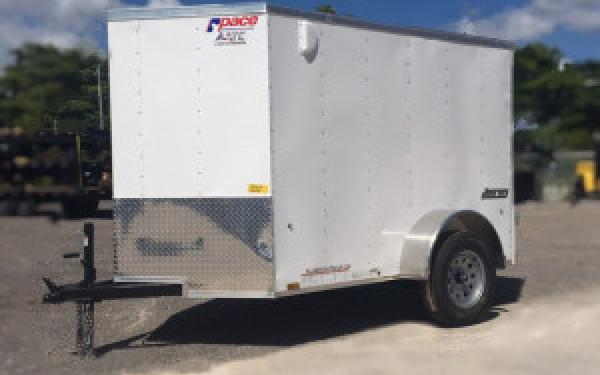 5x8 Enclosed Cargo trailer PACE AMERICAN with Double Rear Doors.