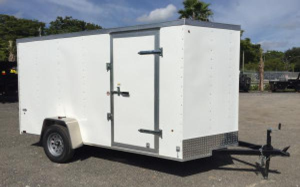 6x12 LOOK Enclosed Cargo Trailer Ramp Door