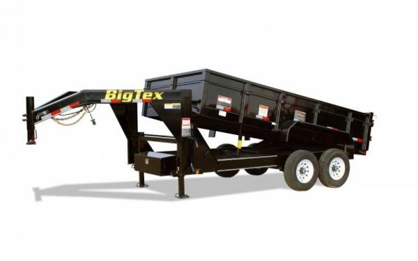 "Big Tex 83""x16' 2' Steel High Sides Dump W/ Combo Gate"