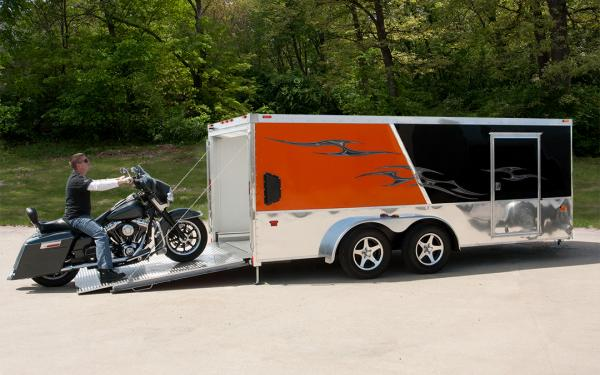Wells Cargo Motorcycle Trailer