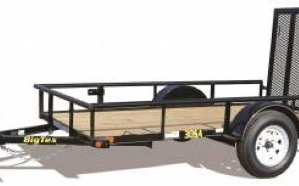 Big Tex Single Axle Utility Trailer w/Sparemount