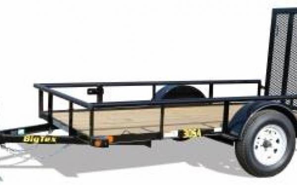 Single Axle Utility Trailer w/ 4' Rampgate