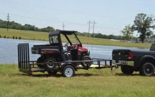 "77"" x 12' Single Axle w/ 4' Rampgate"