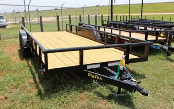 "BIG TEX 83""X18' TANDEM AXLE PIPE TOP UTILITY TRAILER"