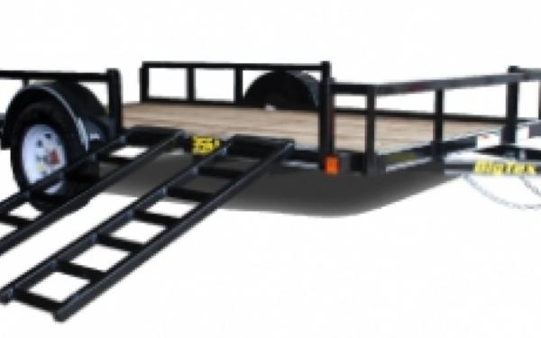 Big Tex 35SA-14RSX Single Axle Trailer w/Side Ramp Gate