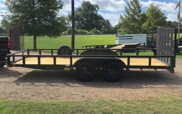 Big Tex 70PI-20' Pipe Top Trailer w/Ramp Gate