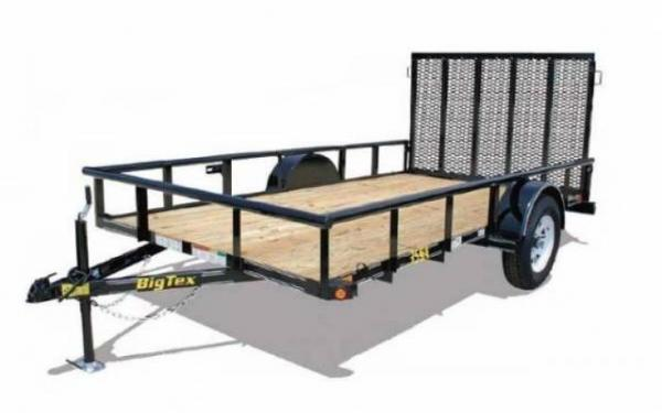 BIG TEX 5'X10' SINGLE AXLE TRAILER WITH RAMPGATE