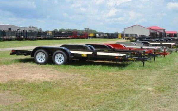 "BIG TEX 83""X16' 6000# CAR HAULER WITH RAMPS"