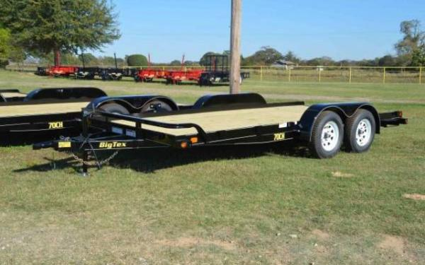 "BIG TEX 83""X18' 7000# OPEN CAR HAULER WITH DOVE TAIL"