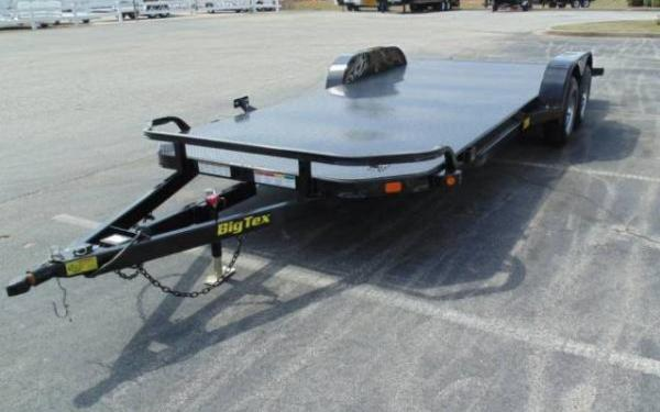 "Big Tex 83""x18' Steel Deck Open Car Hauler with Ramps"