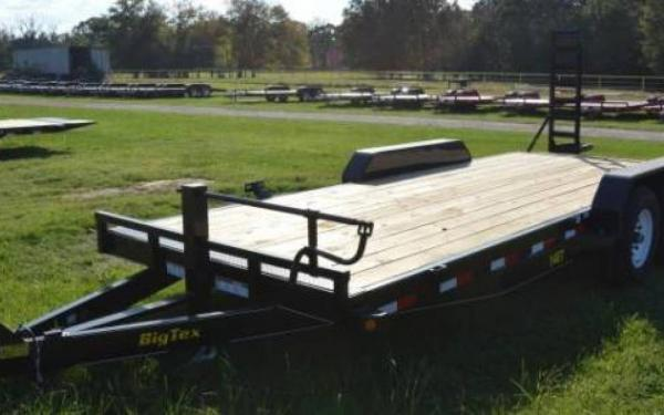 "BIG TEX 83""X18' 14000# TRAILER WITH 32"" DOVETAIL & RAMP"