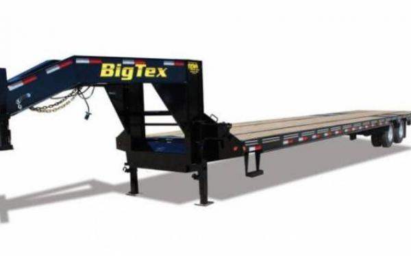 "BIG TEX 102""X20'X5' TANDEM AXLE GOOSENECK TRAILER"