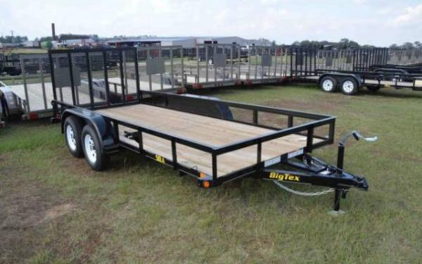 BIG TEX 6.5'X14' TANDEM AXLE UTILITY TRAILER WITH RAMPS