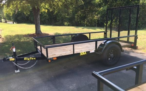 Big Tex 30SA- 10' Single Axle Trailer w/Gate