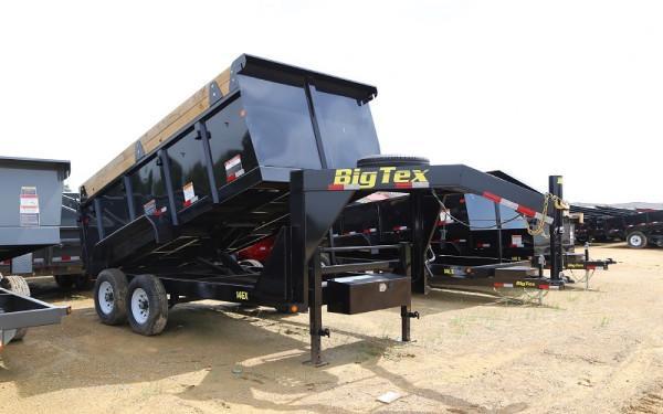 "Big Tex 14GX-83"" x 14 Heavy Duty Tandem Axle Gooseneck Dump"