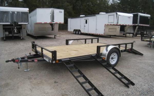 7x12 ATV TRAILER WITH SIDE LOAD RAMPS. HOLD 2 ATVS