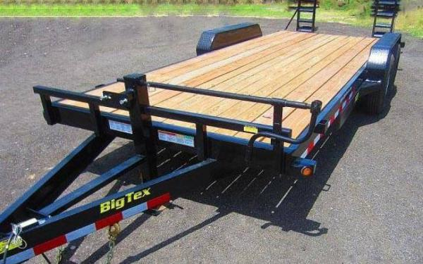 16' BIG TEX 14ET EQUIPMENT HAULER KNEE RAMPS