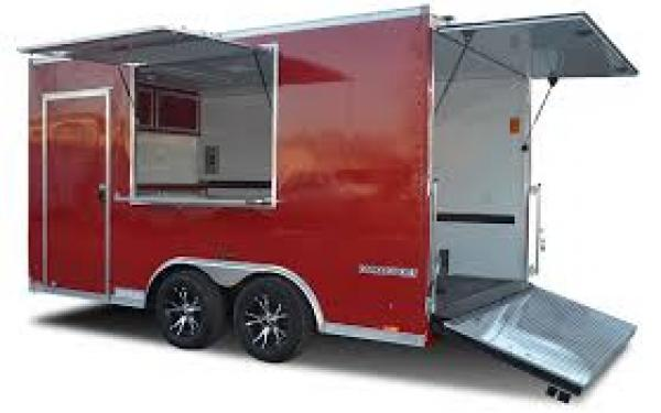 8.5X20 Pace American Concession Vending Trailer