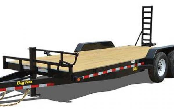 18' Big Tex Equipment Trailer 14k with Knee Ramps