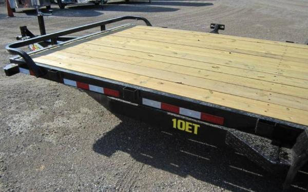 16' BIG TEX 10ET EQUIPMENT HAULER KNEE RAMPS