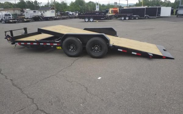 "Big Tex 14TL 83"" x 20 (16 + 4) Heavy Duty Tilt Bed Trailer"