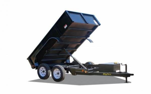 "Big Tex 72""x10' Tandem Axle Single Ram Dump"