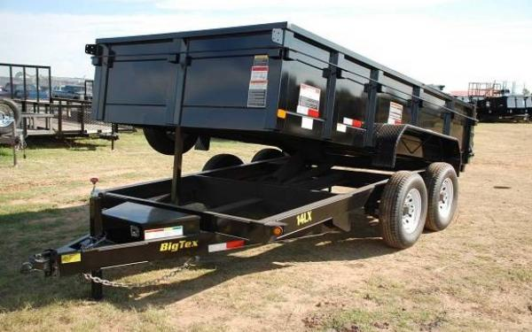 "Big Tex 83""x16' Tandem Axle Low Profile Extra Wide Dump"