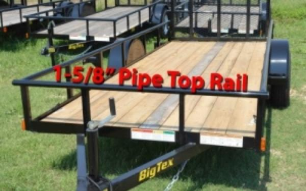 5x10 Big Tex Single Axle Utility Trailer w/Ramp Gate