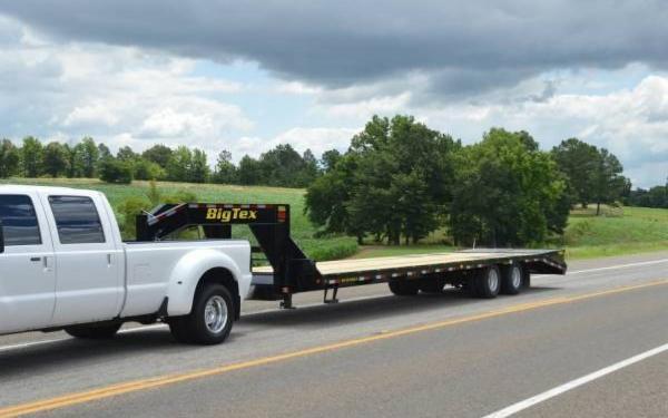 Big Tex 28'+5' Tandem Dual Axle Gooseneck