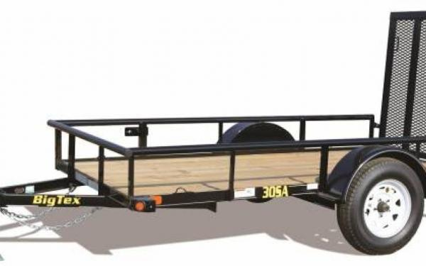 "60""x8' Big Tex Single Axle Utility Trailer"