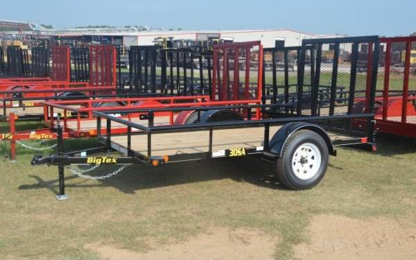 "Big Tex 60""x12' Single Axle Utility Trailer with Rampgate"