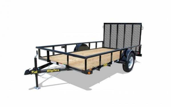 "77""x12' Big Tex Single Axle Utility Trailer"