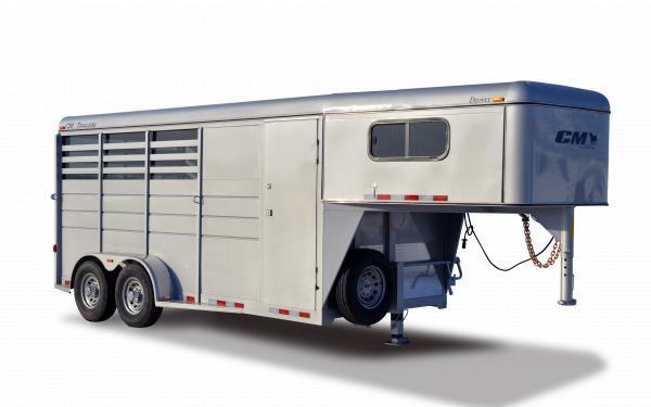 2019 CM Drover Steel Slant Load Gooseneck Horse Trailer