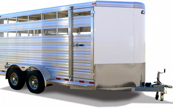 2019 CM Stocker AL-V Aluminum Bumper Pull Stock Trailer with a Wedge Nose