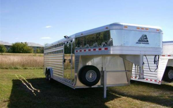 Elite Trailers 8x24 Showstock with Side Ramp