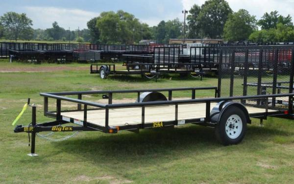Big Tex 35SA 10' Single Axle Trailer w/ 4' Rampgate