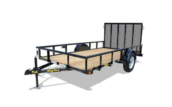 "Big Tex 35SA -77"" x 12' Single Axle w/ 4' Rampgate"