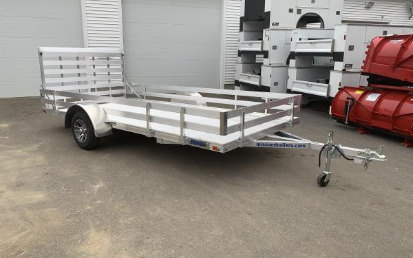 2019 Mission MU 80x14 open utility trailer all aluminum