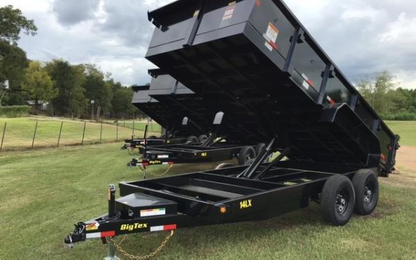 16' Big Tex 14LX Tandem Axle Extra Wide Dump