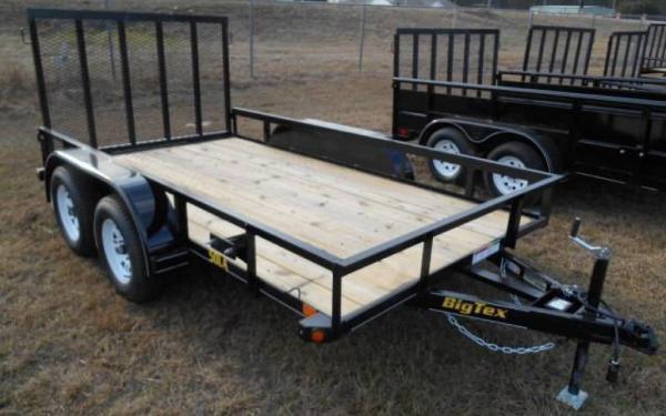 "50LA 77"" x 14 Tandem Axle Angle Iron Utility Trailer"