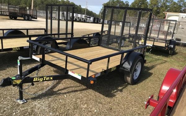 "Big Tex 30SA 60"" x 10 Single Axle Utility Trailer"