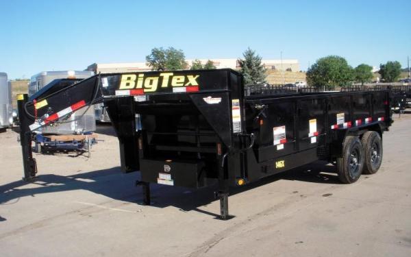 Big Tex 14GX 14,000#,TA,GX,(7 x 16) Black 7Ramps,Led,ComboGate,PU/PD