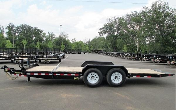 "14TL 83"" x 22 (16 + 6) Heavy Duty Tilt Bed Trailer"