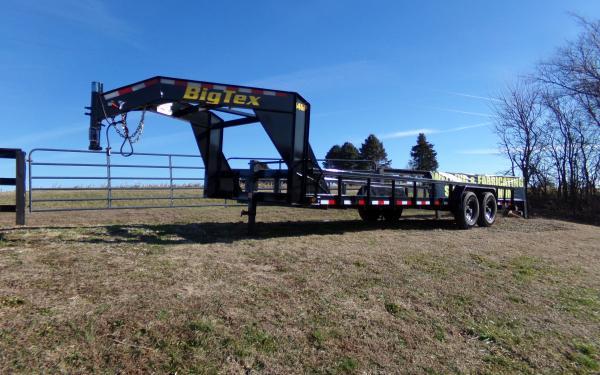 "Big Tex 14GP 83"" x 24 HD Gooseneck Tandem Axle Pipe Top Lowboy"