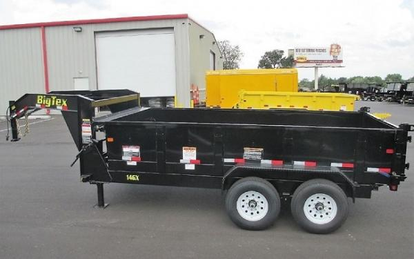 BIG TEX 14GX-16 Heavy Duty Tandem Axle Gooseneck Dump
