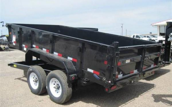 "Big Tex 14LX TAND DUMP 83""x14 7SIR 7K HYD JACK, BLACK"