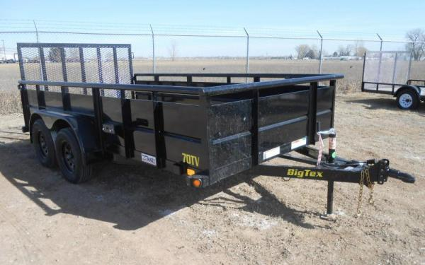 "Big Tex 70TV 83"" x 14 Tandem Axle Vanguard Trailer"